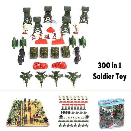 - CLERANCE 300Pcs Soldier Kit Grenade Tank Aircraft Rocket Army Military Men Sand Scene Model Toy With tank lookout stone tank tree Soldiers Model