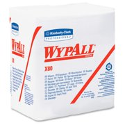 "Wypall X80 Folded Wipers - Wipe12.50"" Width X 12"" Length - 50 / Packet - 4 / Carton - White (kcc-41026)"