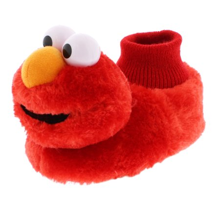Sesame Street Elmo Boys Girls Sock Top Slippers STF5521BSS - Girls Glass Slippers
