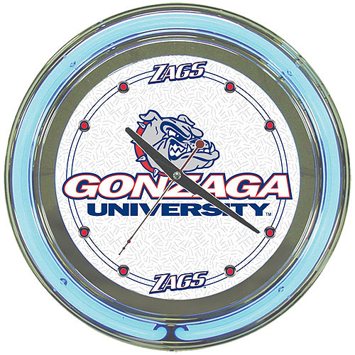 "Gonzaga University 14"" Neon Wall Clock"