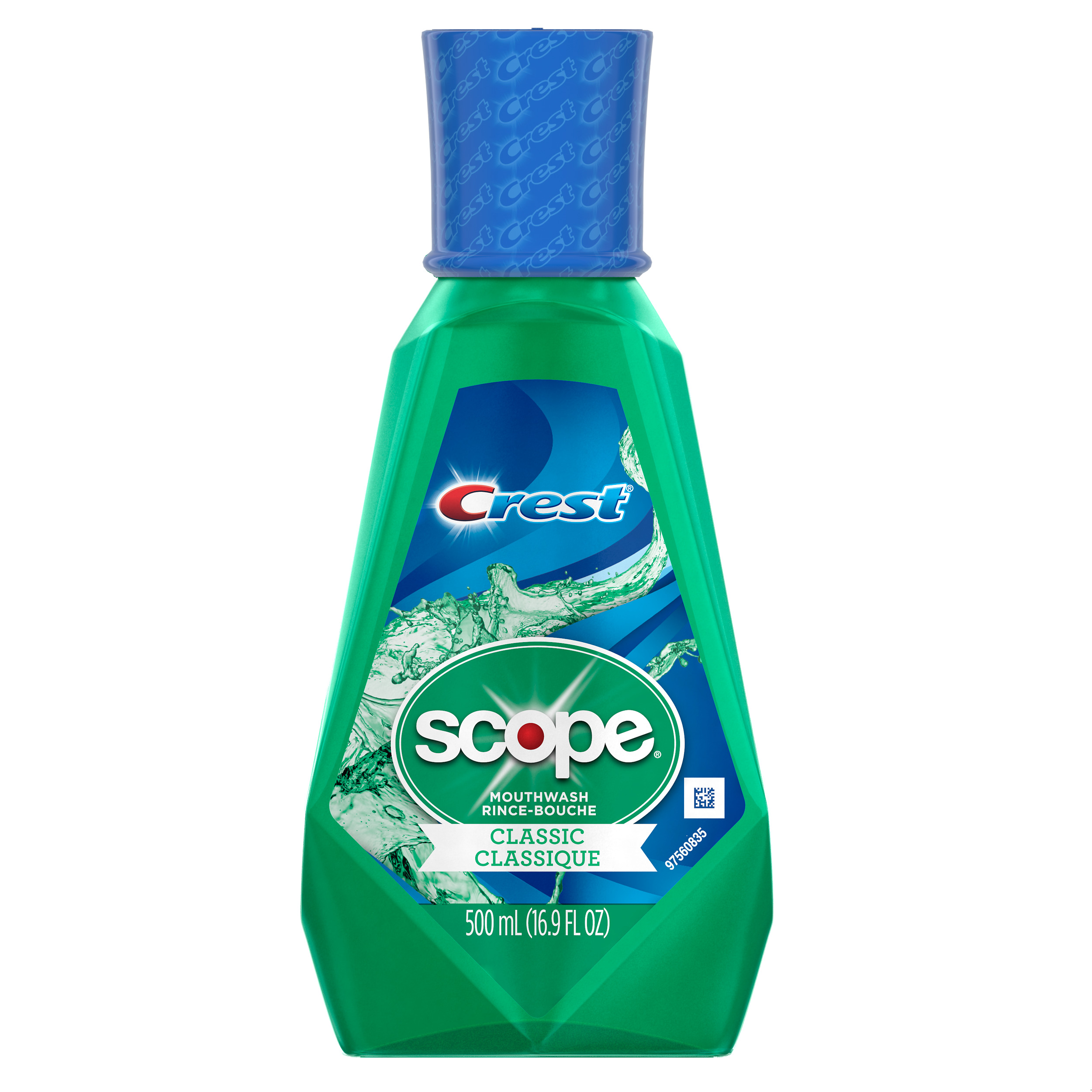 Crest Scope Classic Mouthwash, Original Formula, 500 mL