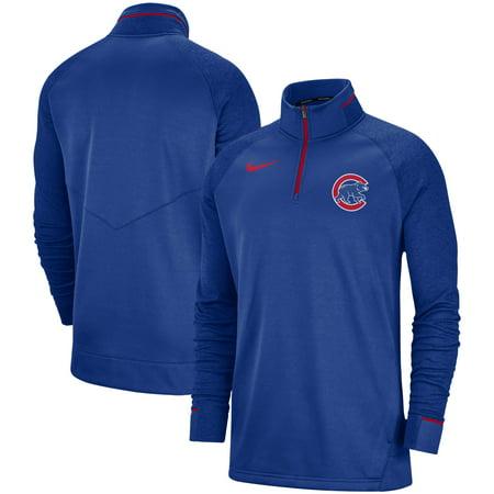 Chicago Cubs Nike Elite Game Performance Raglan Sleeve Quarter-Zip Pullover Jacket - Royal ()