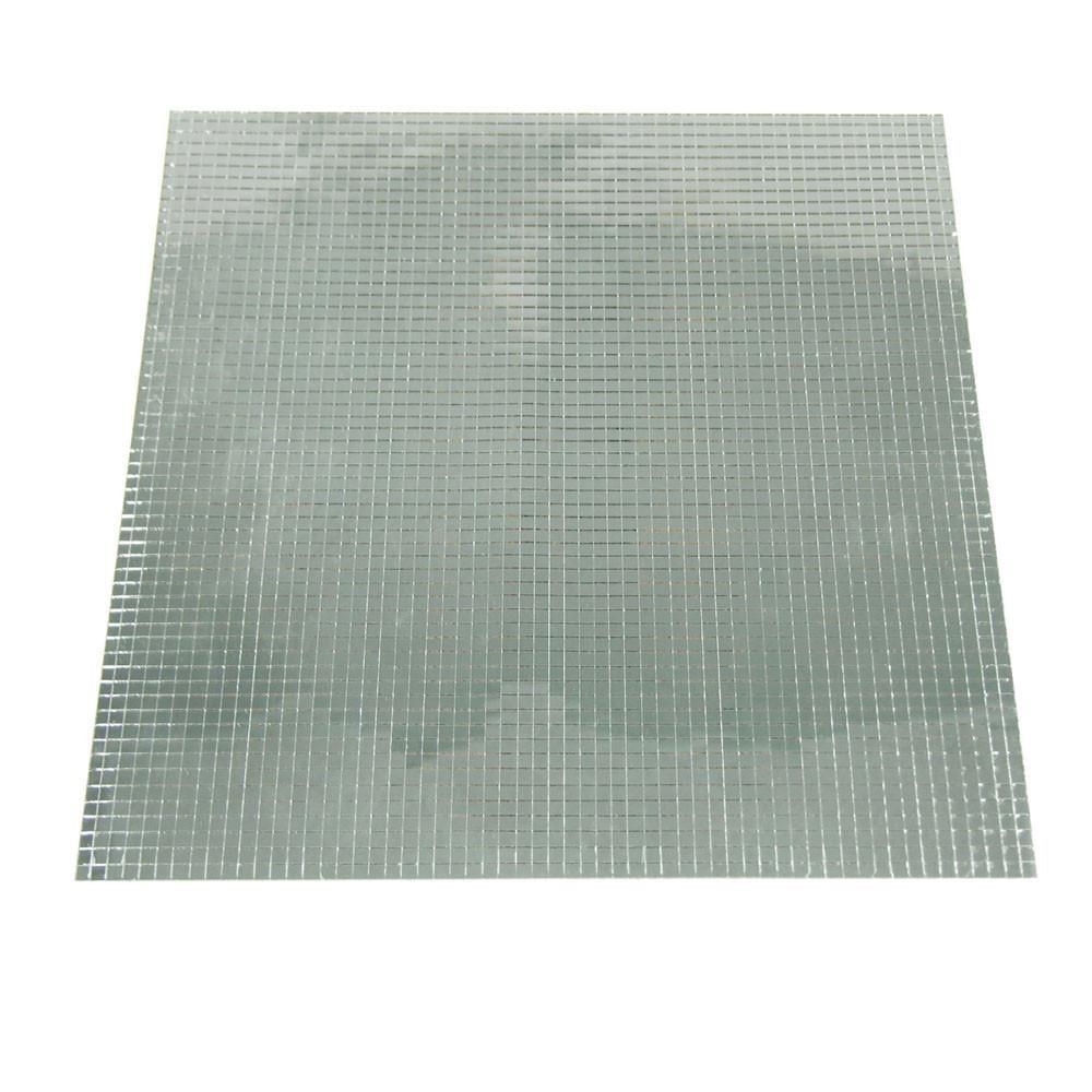 Mirror Sheets Mosaic Sticker, 12-inch x 12-inch, Silver