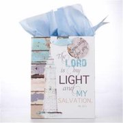 Christian Art Gifts 365520 Gift Bag - Be Still With Tag & Tissue - Medium