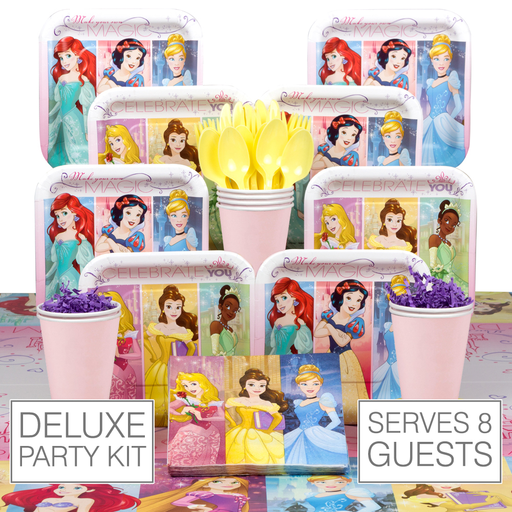 Disney Princess Deluxe Kit (Serves 8) - Party Supplies