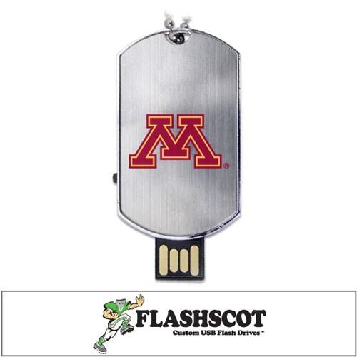 Minnesota Golden Gophers Flash Tag USB Drive - 16GB