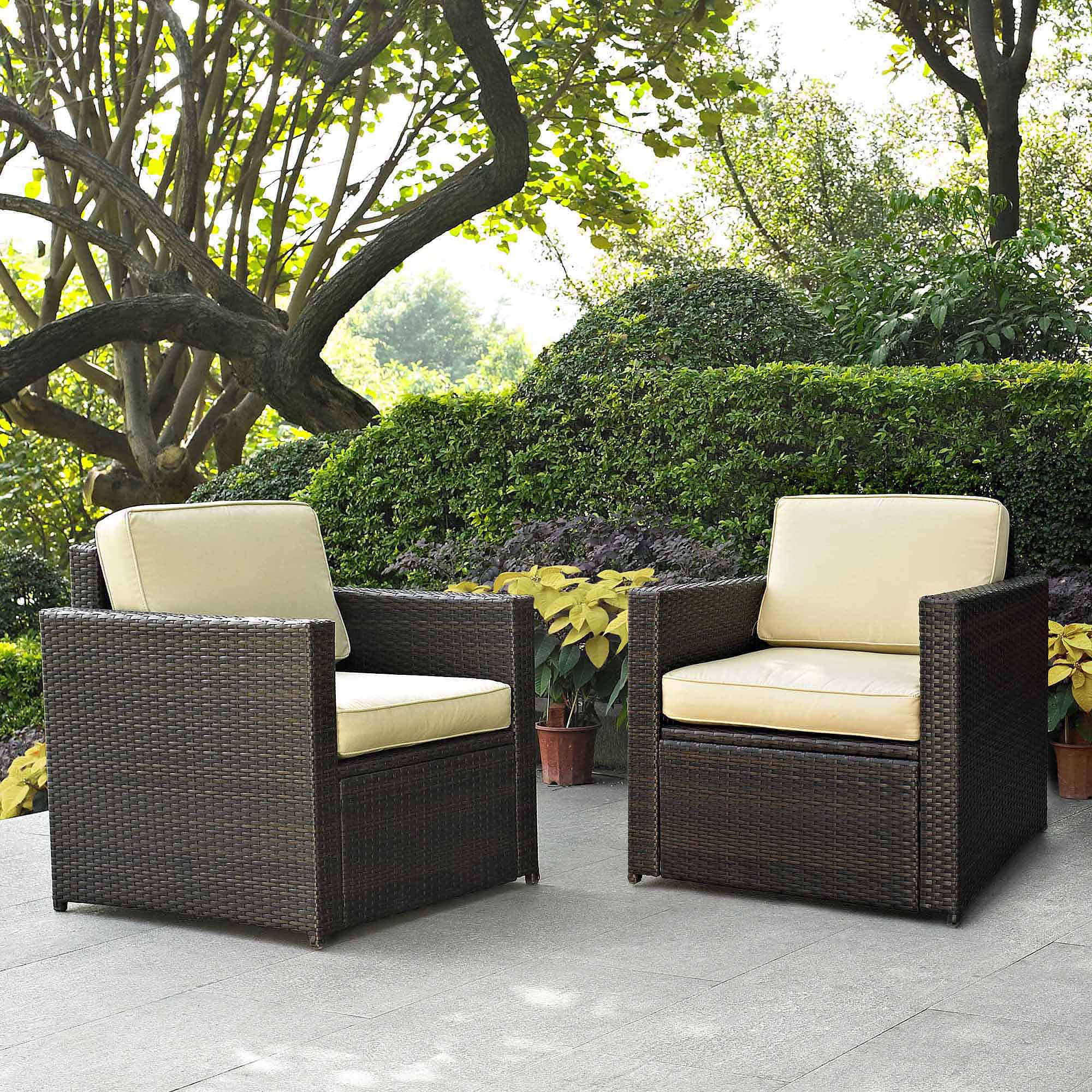 High Quality Crosley Furniture Palm Harbor 2 Piece Outdoor Wicker Seating Set    Walmart.com