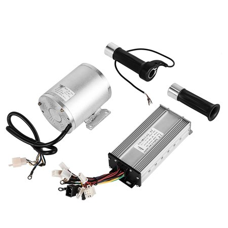 BestEquip 1800W Electric Brushless DC Motor Kit 48V High Speed Brushless Motor with 32A Speed Controller and Throttle Grip Kit 3hp 2 Speed Motor