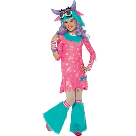 Bedtime Monster Raver Fluffy Tutu Girls Fancy Halloween Party Costume Set (Party Monster Halloween Costume)