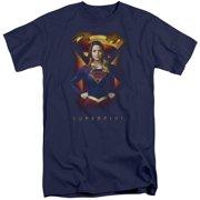 Supergirl Standing Symbol Mens Big And Tall Shirt