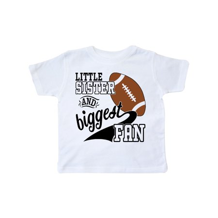 Little Sister and Biggest Fan- football player Toddler T-Shirt - Little Boy Football Player