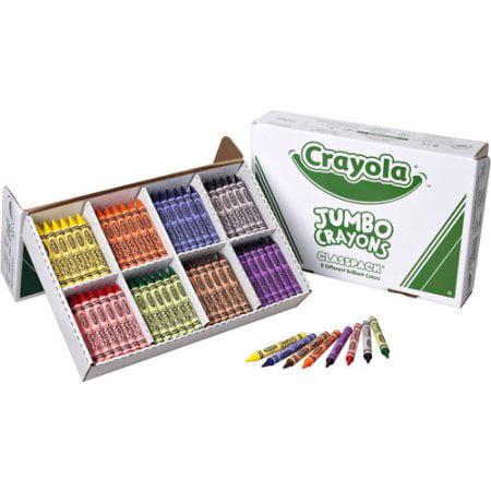Crayola Classpack Of Jumbo Crayons  200 Count  8 Colors
