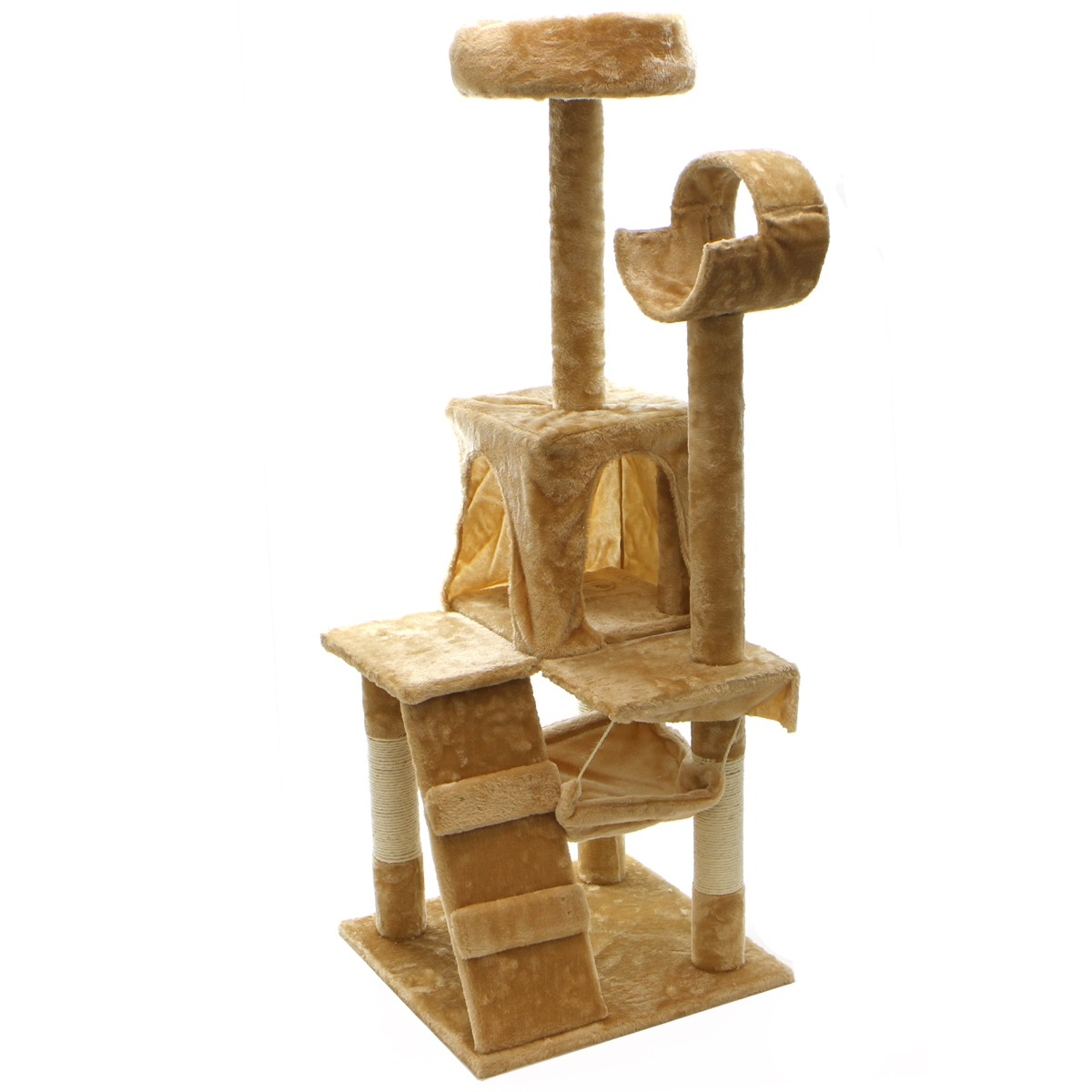 "XtremepowerUS 52"" Condo Cat Tree Scratching Posts Cat Hammock House"