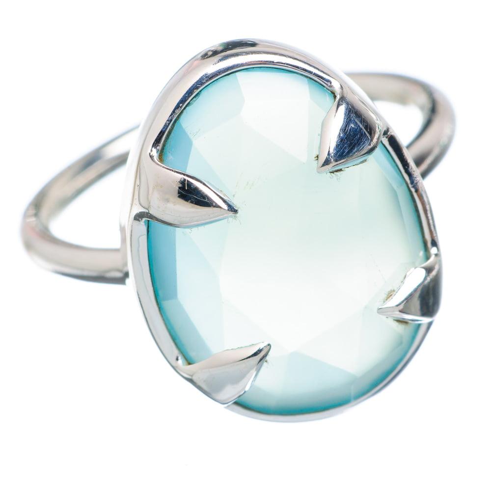 Ana Silver Co Aqua Chalcedony Ring Size 7 (925 Sterling Silver) Handmade Jewelry RING884178 by Ana Silver Co.