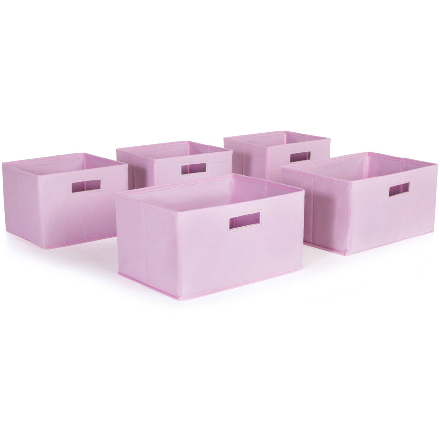 Pink Storage Bins, Set of 5 by Guidecraft