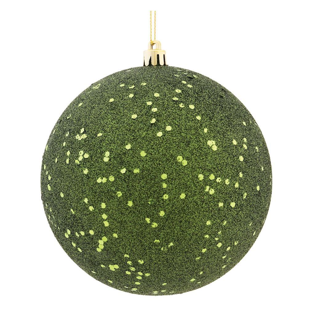 "Vickerman 487303 - 10"" Moss Green Sequin Ball Christmas Christmas Tree Ornament (N592564DQ)"