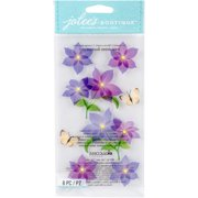 Jolee's Boutique Dimensional Stickers - Purple Flowers