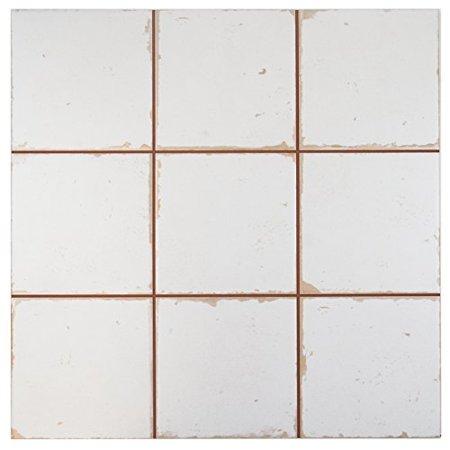 SomerTile FPEMANB Romania Ceramic Floor And Wall Tile X - 13x13 white ceramic floor tile