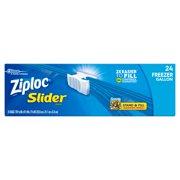 Ziploc Slider Freezer Bags, Gallon, 24 ct
