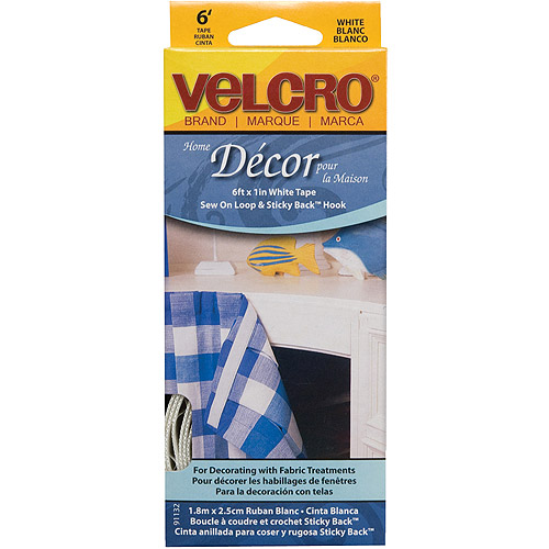 "Velcro Home Decor Tape, 1"" x 6', White"