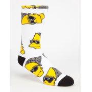 Neff x Simpsons Mens Steezy Bart Crew Socks 15FS16SB