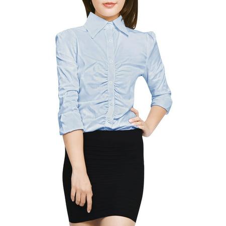 6be3b1822f5 Unique Bargains - Women Corduroy Button Decor A Line Suspender Overall  Dress Skirt Blue M (US 10) - Walmart.com
