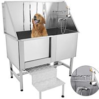 "VEVOR 50"" Pet Grooming Tub Dog Cat Bath Tub Professional Wash Shower"