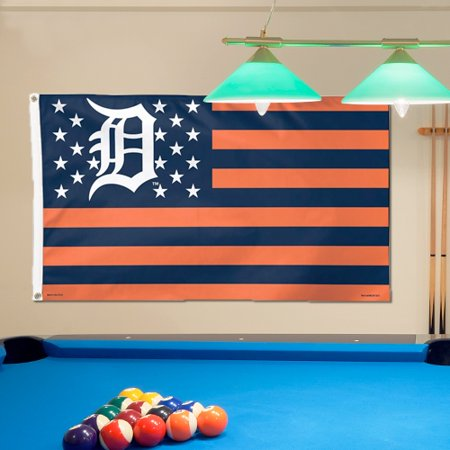 Detroit Tigers Flag - Detroit Tigers WinCraft Deluxe Stars & Stripes 3' x 5' Flag - No Size