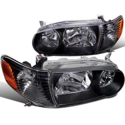 Spec-D Tuning 2LCLH-COR01JM-RS Toyota Corolla Ce S Le Headlights W/ Corner Lights Black