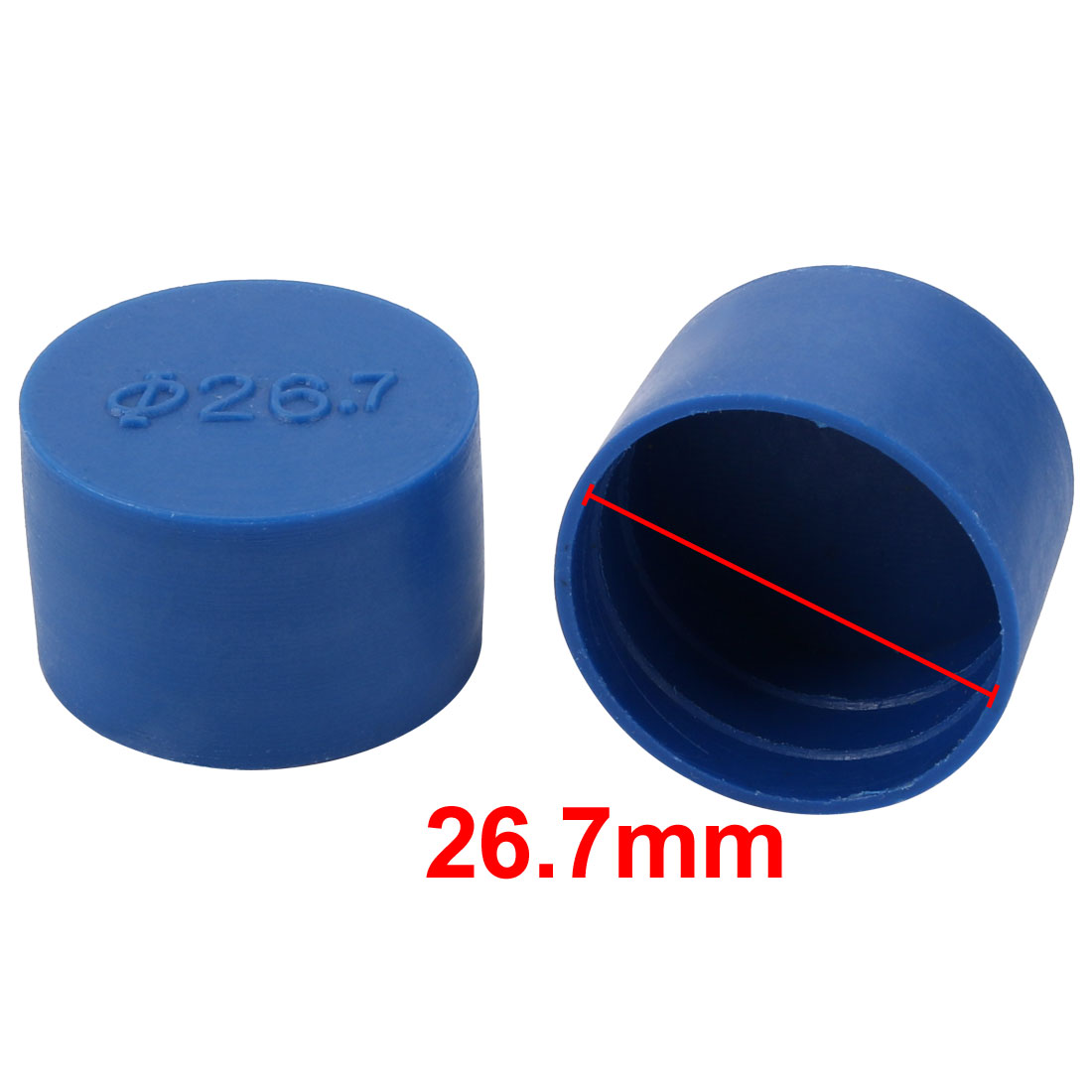 4pcs 26.7mm Inner Dia PE Plastic End Cap Bolt Thread Protector Tube Cover Blue - image 1 of 2