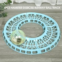 4PCS Hamster Exercise Runway Running Ball Track Rolling Track for Hamster Mouse Small Pets
