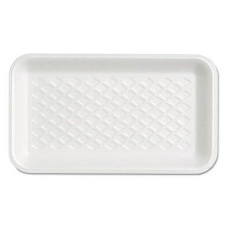Gen-Pak GNPW1017S Foam Supermarket Tray, White - 8.25 x 4.75 in. - image 1 de 1