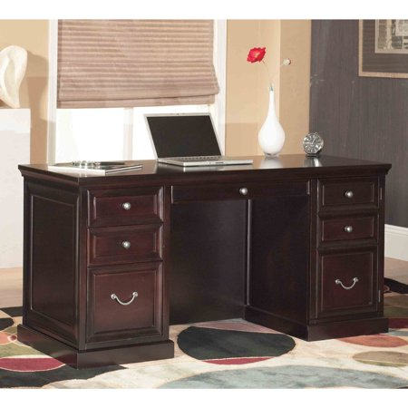 Martin Furniture FL660 Fulton Space Saver Double Pedestal (Double Pedestal Desk)