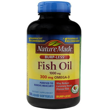 Nature Made Fish Oil Liquid Softgels, 1000 Mg, 150