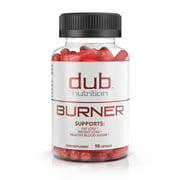 Fat Burner by dub Nutrition | Best Weight Loss Pills Thermogenic Supplement | Natural Energy and Appetite Suppressant, Includes Red Rasberry Ketones, Guarana, and BCAA | Healthy Blood Sugar Levels