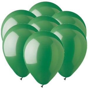 Green 11 inch Latex Balloons (100 count) - Balloon Light