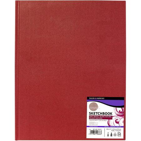 Simply Hardbound Sketchbook  8 5  X 11   Red Cover
