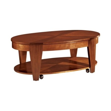Hammary Oasis Oval Cocktail Table W Lift Top In Cherry