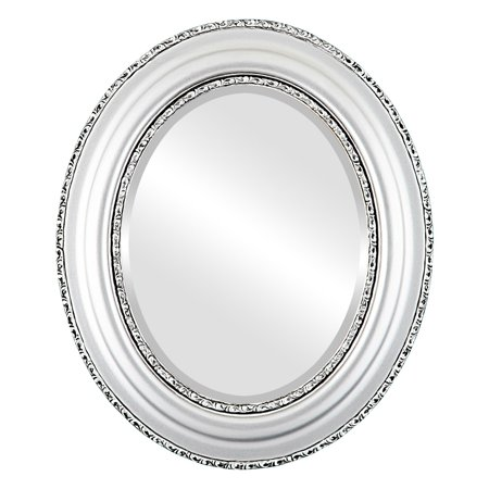 The Oval and Round Mirror Store Somerset Framed Oval Mirror in Silver Spray