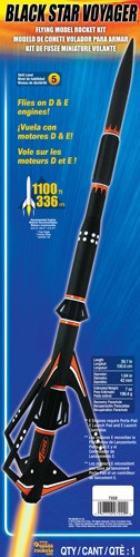 Estes Black Star Voyager Model Rocket Kit Multi-Colored by Estes