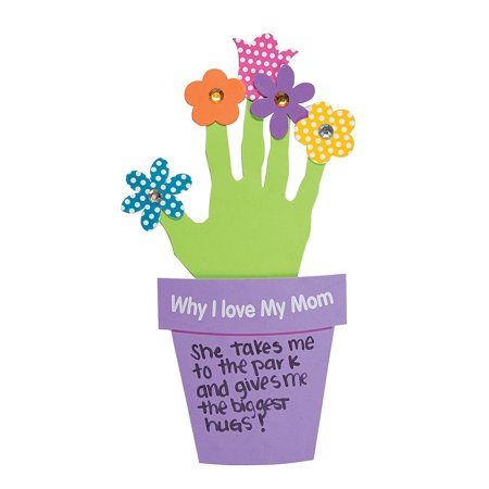 Why I Love My Mother - Handprint Mother's Day Flowers Gift (makes 12) Mother's Day Craft - Crafts For Mothers Day