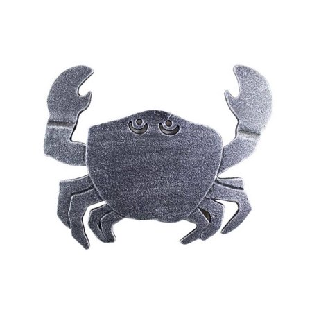 Antique Silver Cast Iron Crab Trivet 11