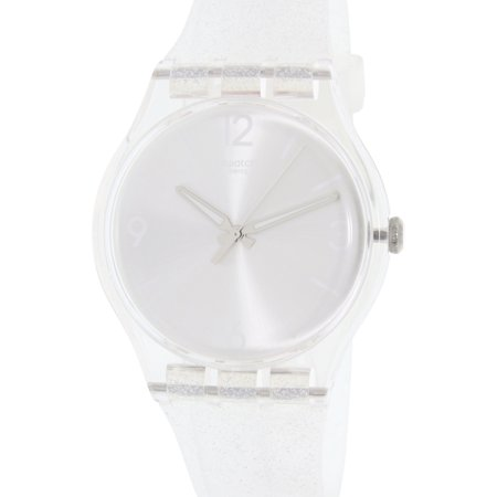 Swatch Women's Originals SUOK112 Clear Silicone Swiss Quartz Fashion Watch ()