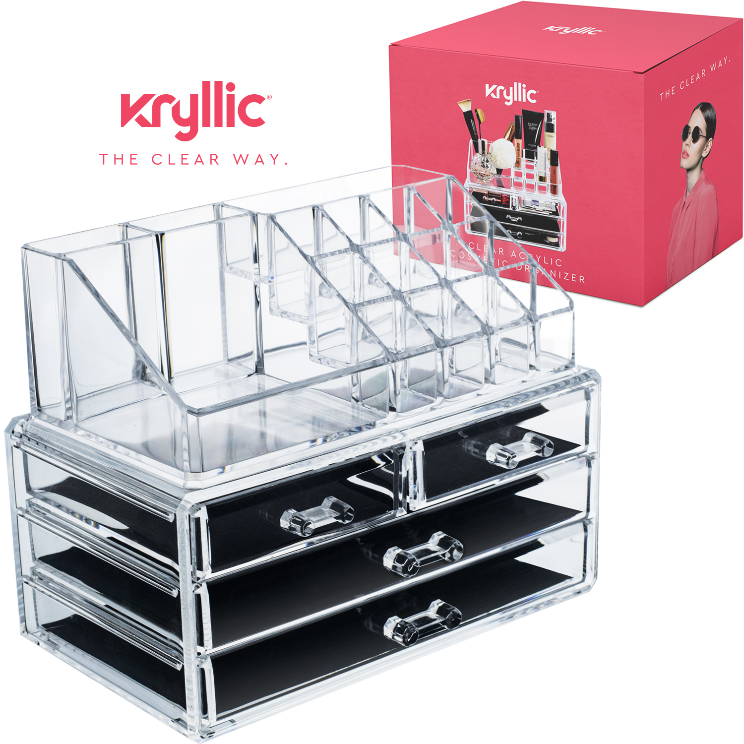 Acrylic Makeup Jewelry Cosmetic Organizer