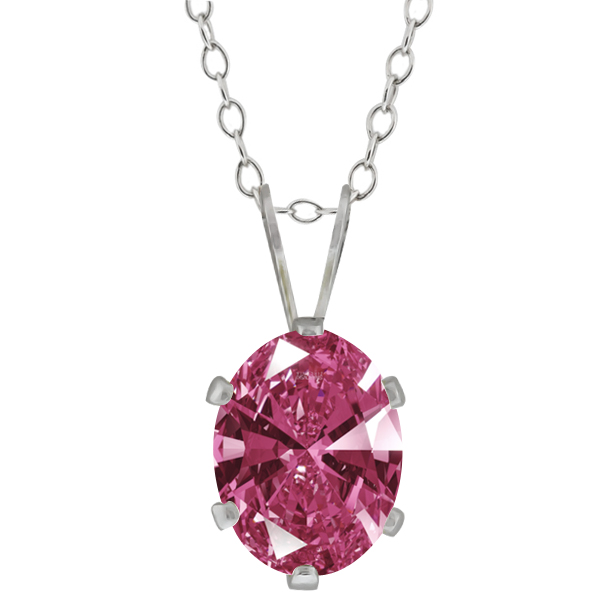 1.21 Ct Red 925 Sterling Silver Pendant Made With Swarovski Zirconia
