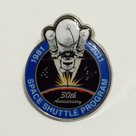 New Nasa Final Space Shuttle Mission Pin Contains Metal Flown on a Space Shuttle Mission Limited Edition Space Shuttle Mission Pin