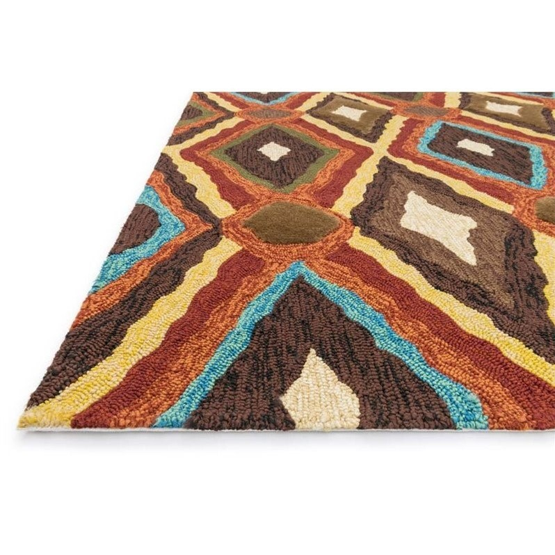 """Loloi Enzo 7'10"""" Round Hand Hooked Rug in Brown - image 1 of 2"""