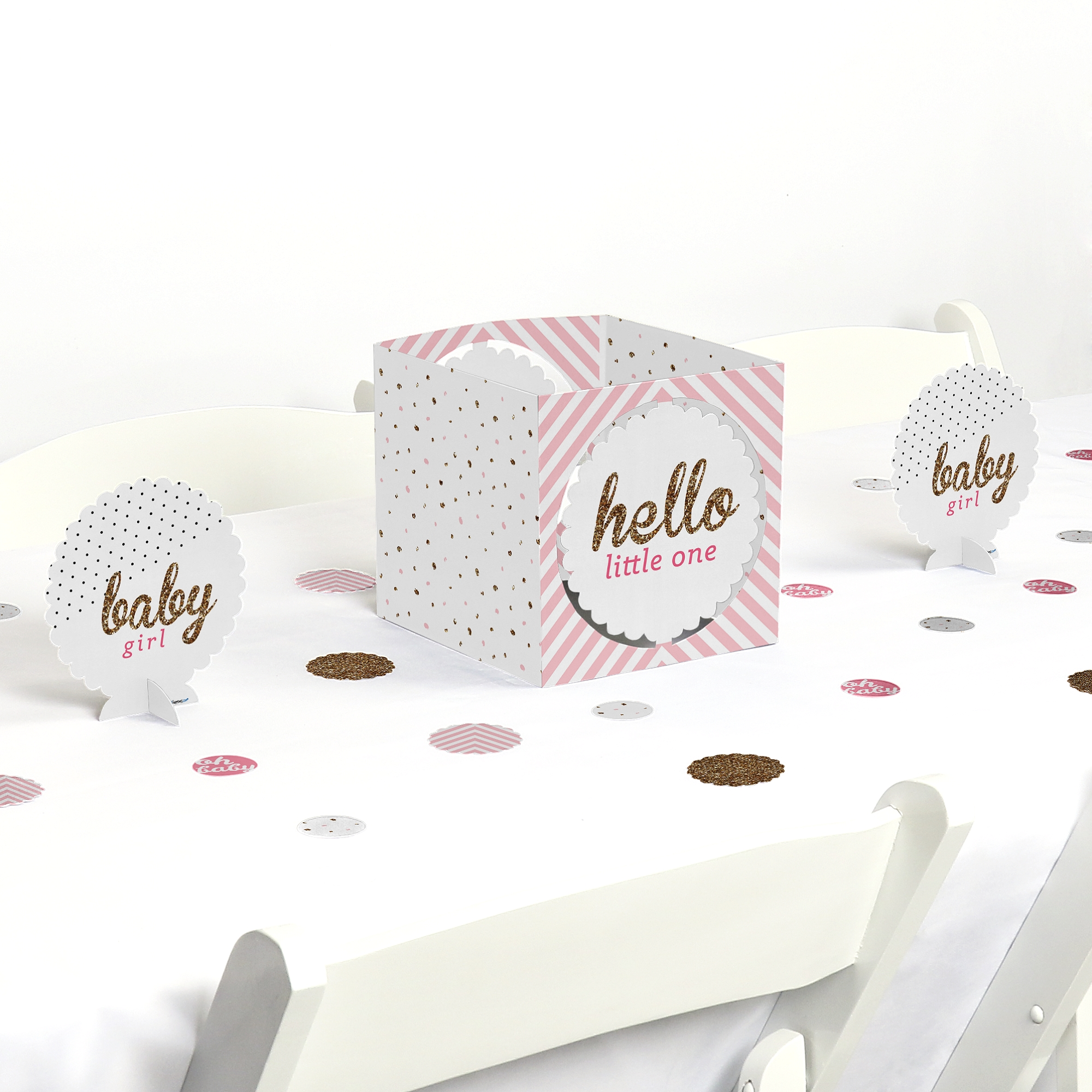 Hello Little One   Pink And Gold   Girl Baby Shower Party Centerpiece U0026  Table Decoration