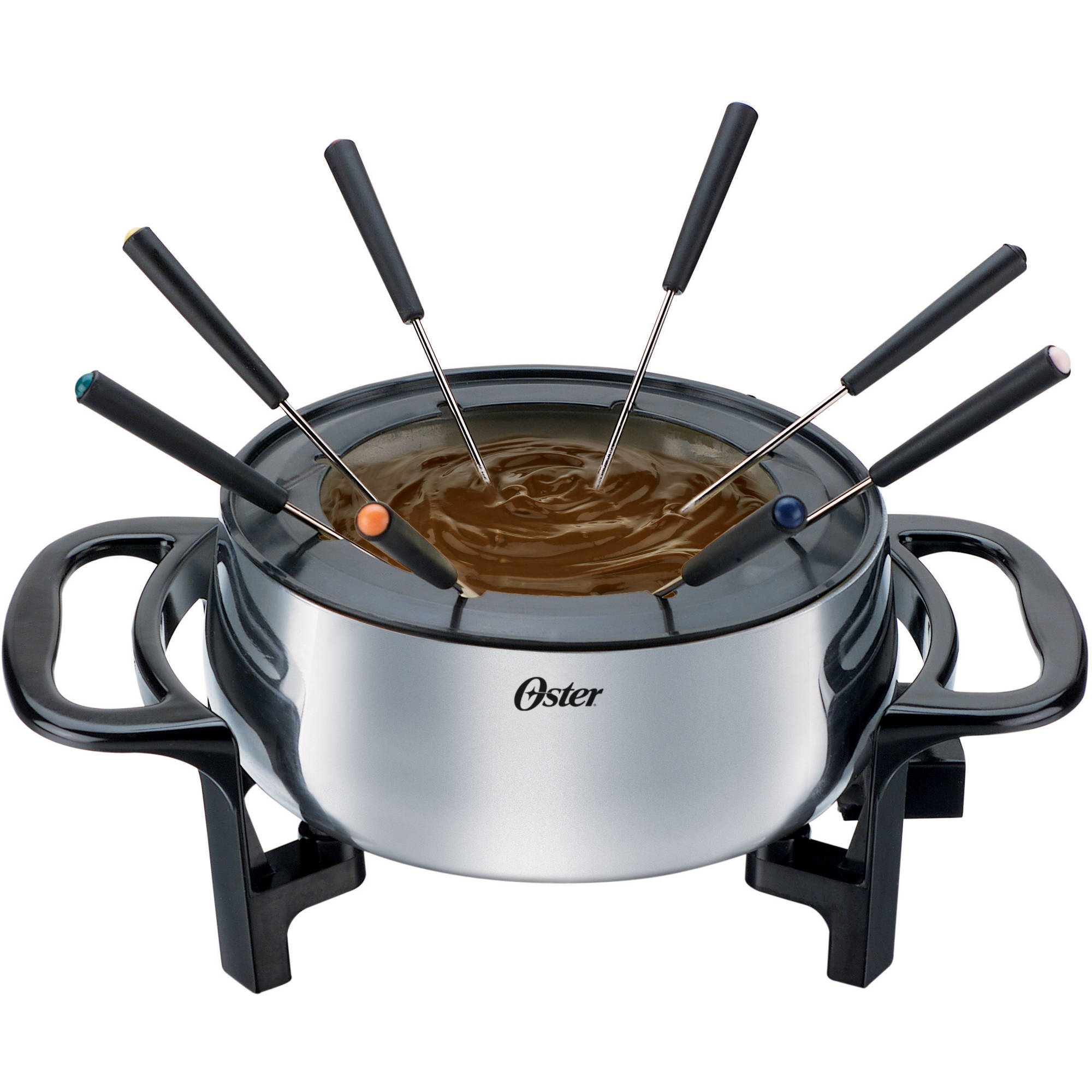 Oster FPSTFN7710 3-1/2 Quart Fondue Pot with Forks, Stainless Steel