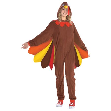 Turkey Zipster Womens Adult Thanksgiving Festive Animal Costume - Baby Turkey Costume Thanksgiving